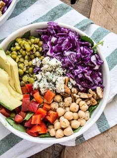 Purple Cabbage and Split Pea Power Bowl | Lemons and Basil