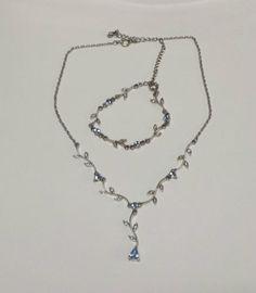 Precioso-conjunto-de-colgante-y-pulsera-con-ramitas-y-cristales-azules
