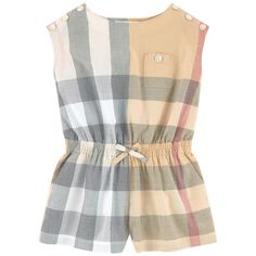 Burberry - Check print playsuit - 213007