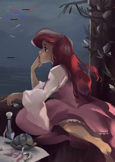 Disney *ARIEL ~ The Little Mermaid, Superfoods for Wholesome Hair We've all realized via the years { Ariel Disney, Disney Princess Art, Disney Fan Art, Disney Girls, Disney Magic, Ariel Ariel, Disney Animation, Disney Cartoons, Disney Movies