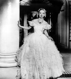"""Bette Davis in famous dress, """"Jezebel"""" (1938)"""