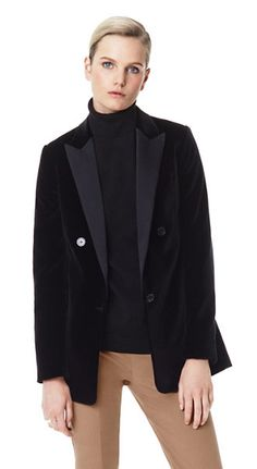 Theory Kevina Matte Velveteen Stretch Cotton Velvet Jacket | Theory.com