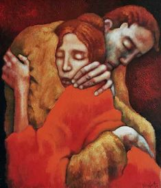 Lovers by Nicoletta Tomas. BonzaSheila Presents The Art Of Love Archives For April, 2013 Art Of Love, Art For Art Sake, Painting People, Figure Painting, Art And Illustration, Illustrations, Kunst Online, Dark Art Drawings, Guache