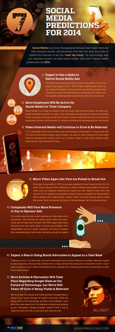 7 #socialmedia perdition for 2014 - #infographic
