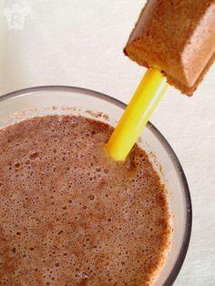 Receta de bebida: Batido de vainilla y chocolate   Drink recipe:  Vanilla and chocolate milkshake