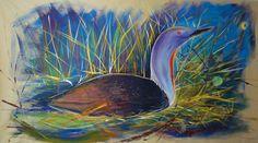 Plongeon catmarin sur toile acrylique toile de 300 x 1,60 m Stéphane Hauton (Artiste peintre - Graphiste Designer) 0698180366 www.stephane-hauton.fr