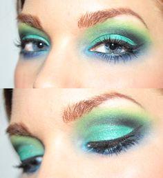 Todays look - Yesterday - Linda Hallberg Mint Eyeshadow, Eyeshadow Looks, Mermaid Eyes, Teased Hair, Linda Hallberg, Diy Beauty, Beauty Stuff, Girly Things, Nice Things