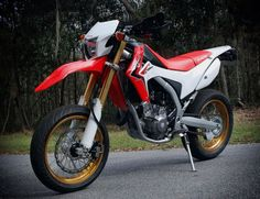 My in Supermoto trim Honda Motors, Honda Bikes, Honda S, Honda Motorcycles, Custom Motorcycles, Street Legal Dirt Bike, Honda Africa Twin, Motocross Bikes, Moto Bike