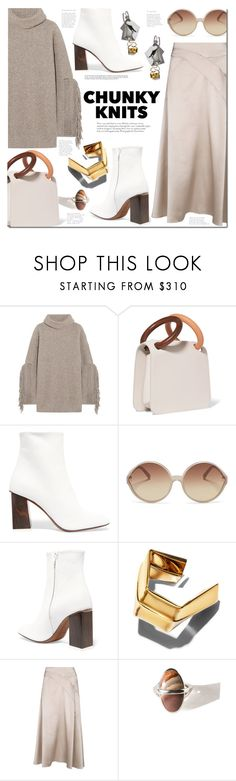"""Chunky Knits"" by margaretferreira ❤ liked on Polyvore featuring STELLA McCARTNEY, Roksanda, Neous, Linda Farrow, Proenza Schouler, Pamela Love, fallfashion, fallsweaters and chunkyknits"