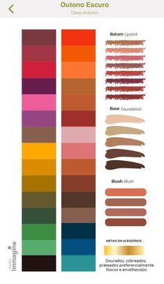 Deep Autumn Color Palette, Skin Color Palette, Color Palate, Soft Autumn Deep, Dark Autumn, Deep Autumn Makeup, House Color Palettes, Seasonal Color Analysis, Color Me Beautiful