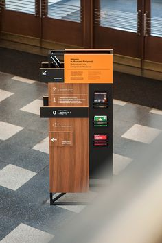 Wayfinding elements in Emigration Museum in Gdynia on Behance