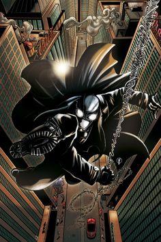 Amazing Spider-Man Noir artwork by Ricardo Fasoli Marvel Comic Books, Marvel Dc Comics, Marvel Characters, Marvel Heroes, Marvel Art, Noir Spiderman, Spiderman Art, Amazing Spiderman, Noir Color