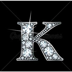 K is for Kim; Love the bling!