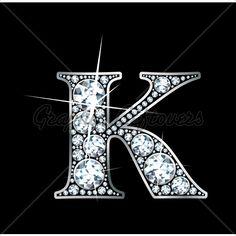 K is for Kim; Love the bling!