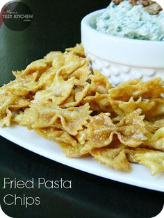served the Fried Pasta Chips alongside the Killer Spinach Dip to make the perfect chips & dip combo!