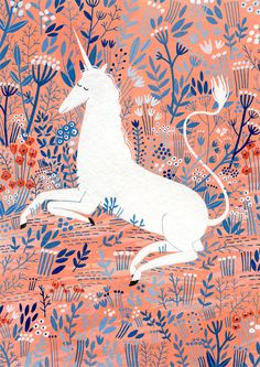 unicorn print by ybryksenkova on Etsy, $15.00