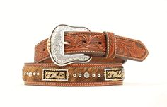 Men's Belt | Nocona Cow Hide with Silver & Gold Concho Leather Belts, Leather Men, Men's Belts, Nocona Boots, Branded Belts, Western Belts, Cow Hide, Fashion Brands, Cuff Bracelets