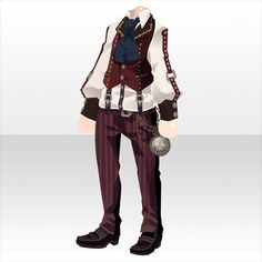 Rasoir Suspicious|@games -アットゲームズ- Anime Outfits, Boy Outfits, Fashion Outfits, Fashion Design Drawings, Fashion Sketches, Chibi Hair, Cocoppa Play, Dress Drawing, Steampunk Clothing