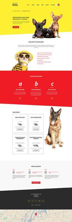 Happy Dog Website #Joomla #template. #themes #business #responsive #Joomlathemes
