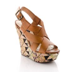woven and tribal-inspired wedge