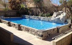 There are lots of affordable backyard landscaping ideas you can look into. For a backyard landscape upgrade, you need not spend so much cash. Above Ground Pool Landscaping, Backyard Pool Landscaping, Backyard Pool Designs, Small Backyard Pools, Backyard Pergola, Landscaping Tips, Gazebo, Small Swimming Pools, Swimming Pools Backyard