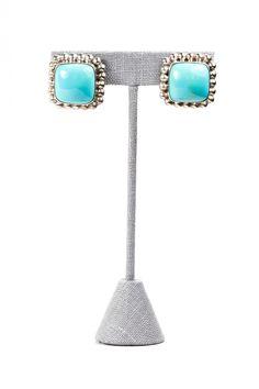 60's__Vintage__Turquoise Earrings