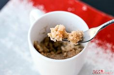 Snickerdoodle Mug Cake - an easy and delicious treat that everyone will love! Makes a fun holiday dessert idea.
