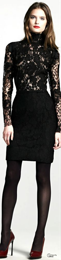 Lanvin ● Black Lace Dress  ❤  #FashionSerendipity #fashion Designer Fashion