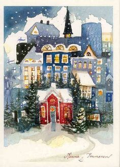 I love this! So pretty and magical and Christmassy :) Minna Immonen