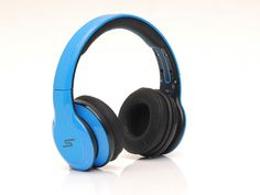 SMS Sync by 50 Cent Wireless Over-Ear Headphones Blue $125