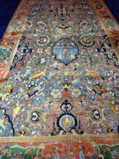 Polonaise carpet exhibition at Iran Carpet Museum