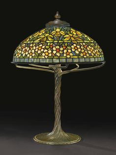 "TIFFANY STUDIOS ""DAFFODIL AND NARCISSUS"" TABLE LAMP, circa 1905"