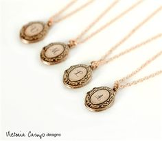 Custom Tiny Rose Gold Initial Locket Necklace on Rose Gold Chain  #MothersDay