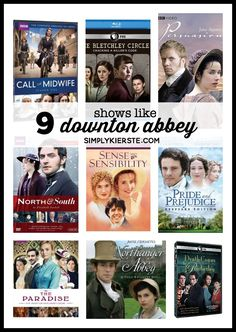 If you love Downton Abbey or historical drama, these shows are for you! Mystery, love, romance, drama...you don't want to miss them!