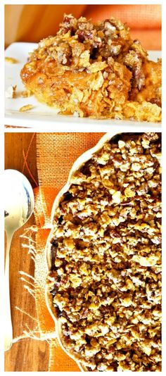 This Sweet Potato Casserole is truly the most delicious things I've ever eaten!!!  Its rich, really sweet and has a unique flavor because it has a bit of coconut in the filling and the marshmallow are in the filling not the topping.  The topping is OFF the charts delicious cuz it's crunchy, buttery, loaded with cornflakes, pecans and Brown Sugar! This is a whole new level on a  Thanksgiving Sweet Potato Casserole!!!