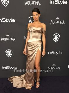 Isabeli Fontana 2016 Golden Globes Off-the-shoulder Evening Dress TCD6579 Red Carpet Dresses, Satin Dresses, Strapless Dress Formal, Gowns, Formal Dresses, Dresses For Less, Dresses For Sale, Off Shoulder Evening Dress, Hailey Baldwin Style