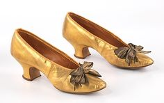 Slippers 1900, American, Made of leather
