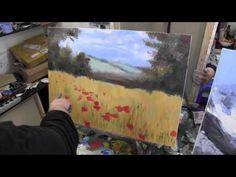 маковое поле, художник Сахаров, живопись для начинающих - YouTube Canal Du Midi, Garden Painting, Art Tutorials, Painting Tutorials, Gustav Klimt, Art Techniques, Painting Inspiration, Poppies, Watercolor