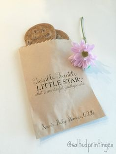 Custom Baby Shower or Gender Reveal Favor Bags! Twinkle Twinkle Little Star what a wonderful guest you are!