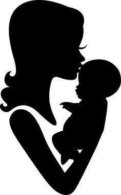 Mom and Baby Forehead Kiss Silhouette Vinyl Decal Mutter und Baby Stirn Kuss Silhouette Vinyl Aufkle Baby Silhouette, Silhouette Design, Couple Silhouette, Silhouette Cameo, Love Mom, Mothers Love, Tumblr Sticker, Forehead Kisses, Mother Art