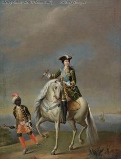 Equestrian portrait of Catherine the Great of Russia after Grooth, c.1750. ~ETS #nobility
