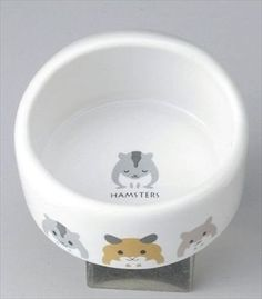 Hamster-food-bowl-dish-plate-meal-pottery-Easy-to-wash-Cleanliness-mouse-rat-NEW
