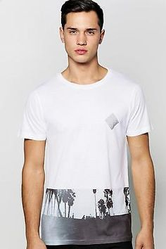Boohoo mens venice #beach #sublimation t shirt in #white size l,  View more on the LINK: 	http://www.zeppy.io/product/gb/2/361661732036/