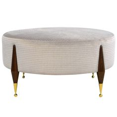 Imperial Ball Foot Ottoman Or Coffee Table MidCentury Modern, Upholstery Fabric, Metal, Ottomans Pouf by Cf Modern Furniture Styles, Cheap Furniture, Furniture Design, Antique Coffee Tables, Mid Century Coffee Table, Modern Ottoman, Modern Chairs, Midcentury Modern, Furniture Dolly
