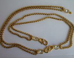 YSL Yves Saint Laurent chain necklace