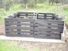 Kompost av lastpallar