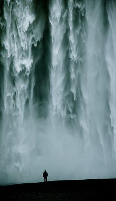 Skógafoss, Iceland. Travel dreams. Dive into this cascading waterfall and dream away with http://TheCultureTrip.com (image via flickr) More At WATERFALLS : FOSTERGINGER @ Pinterest