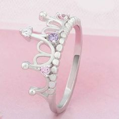 Women's Jewelry 925 Sterling Silver Rings Queen Crown Rings Birthday Xmas Gifts