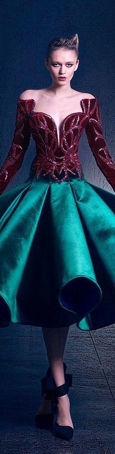 Nicolas Jebran couture FW 2015/16 women fashion outfit clothing style apparel @roressclothes closet ideas