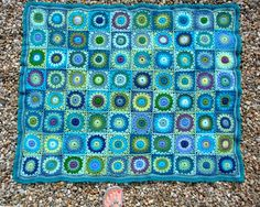 blue jewels afghan love the color combos